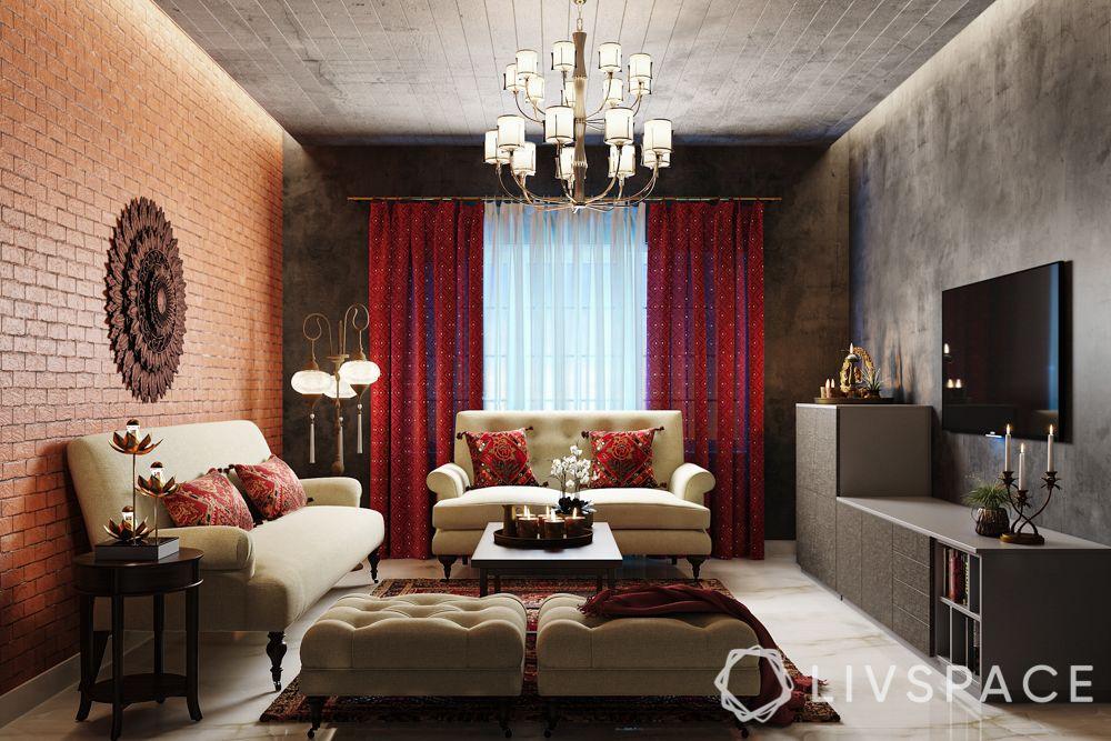 diwali decorate-living room diwali decor
