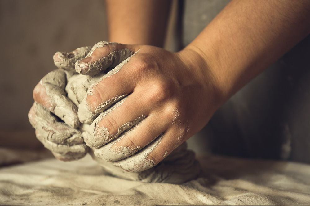 how to make diwali diya at home-clay kneading