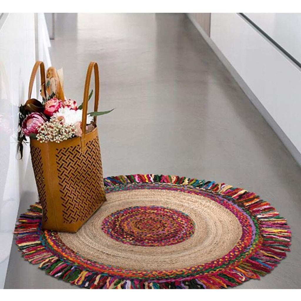 amazon shopping-round rug-boho chic rug