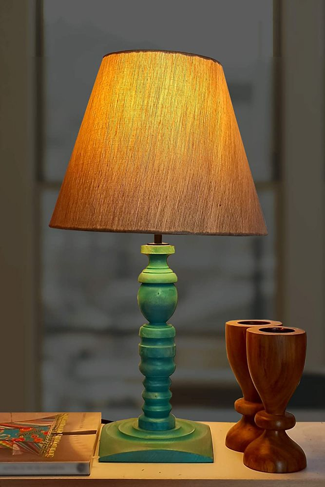 amazon shopping-vintage lamp-wooden table lamp