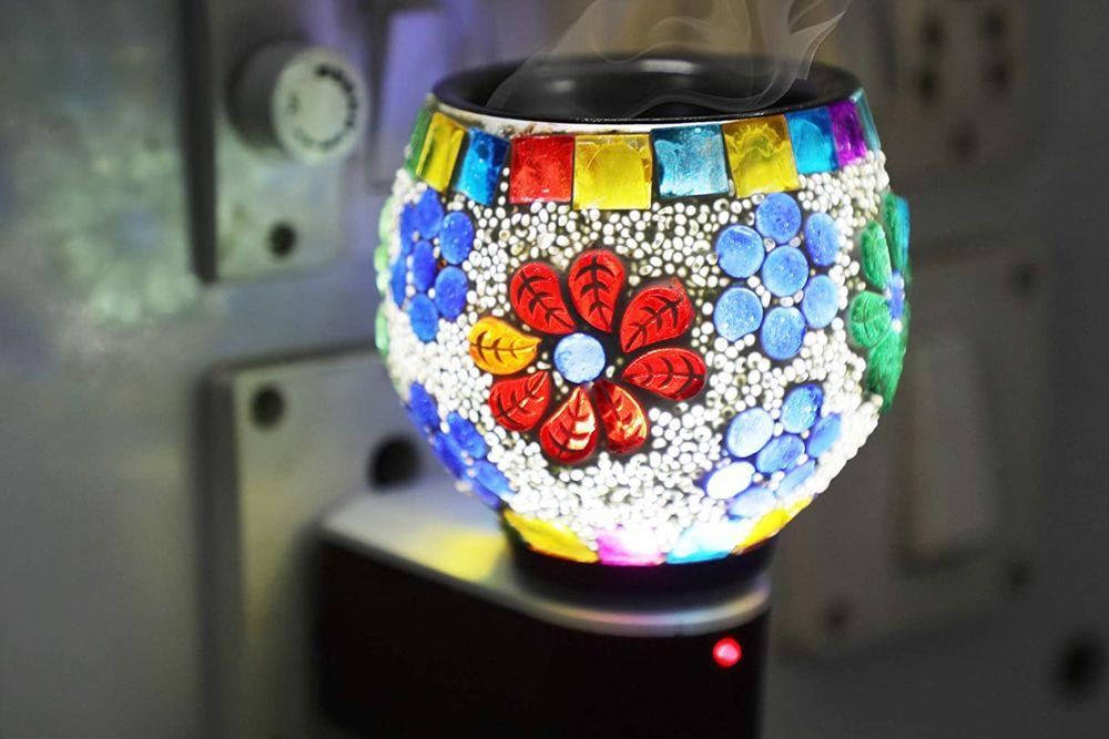 amazon shopping-ceramic oil diffuser-night lamp