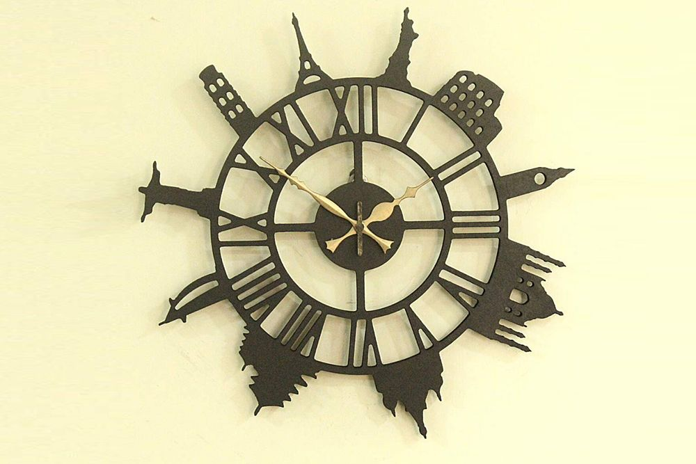 amazon shopping-travel themed wall clock-mdf clock
