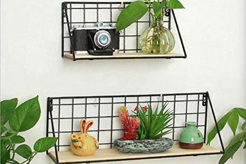 amazon shopping-iron shelves-wall shelves