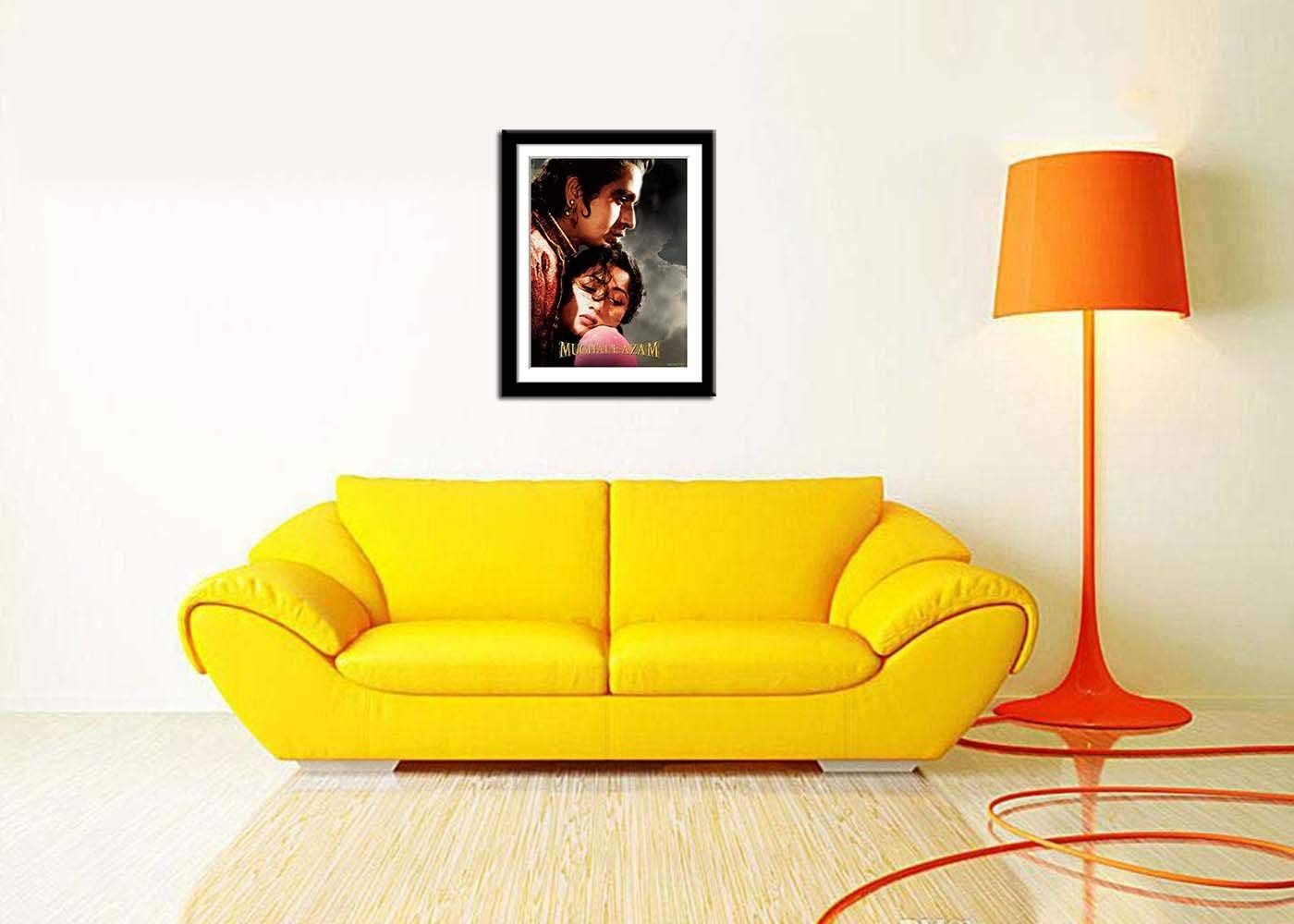 framed movie posters-mughal-e-azam poster
