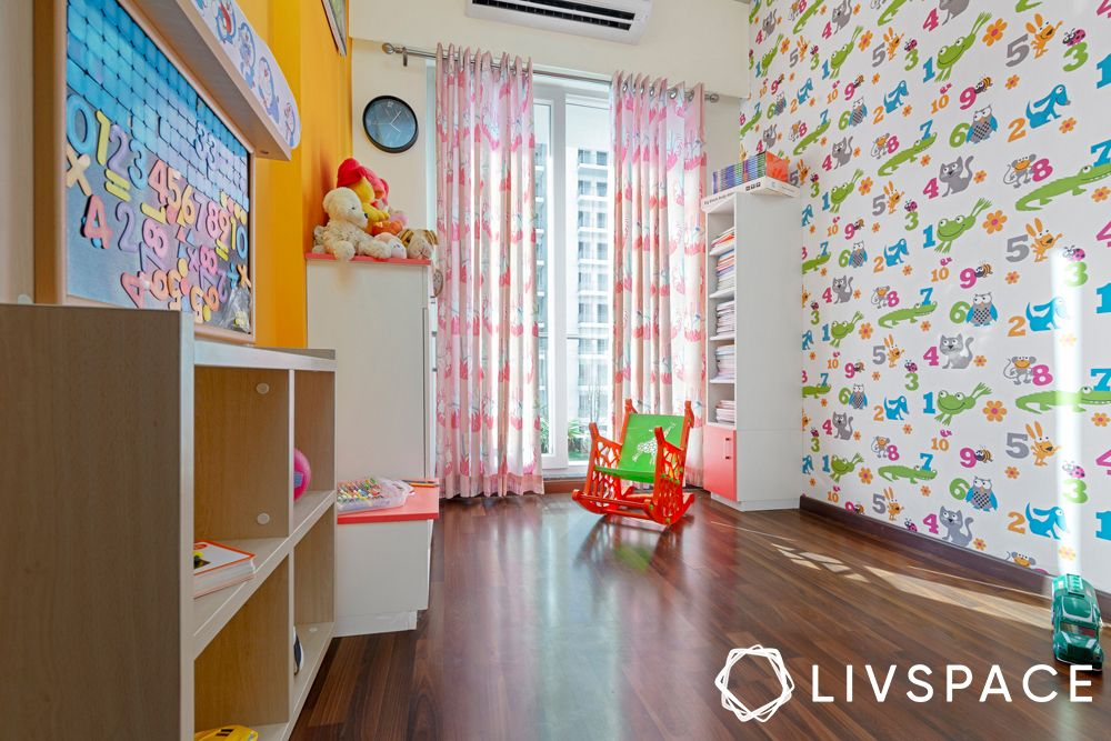 flats design-playroom-kids room-colourful