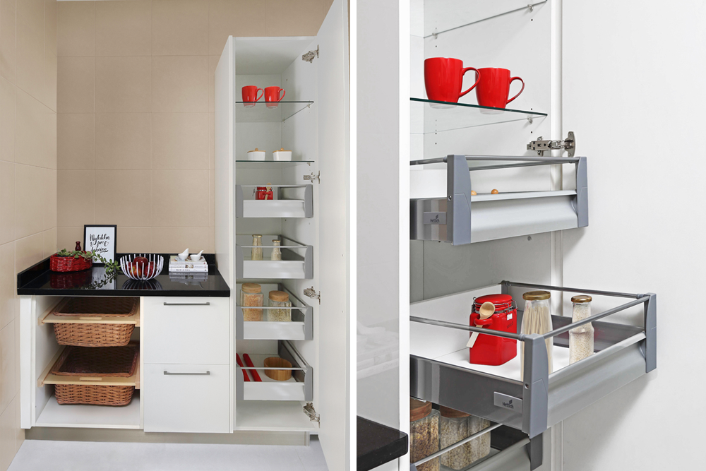 accessories for modular kitchen-pantry pull-out