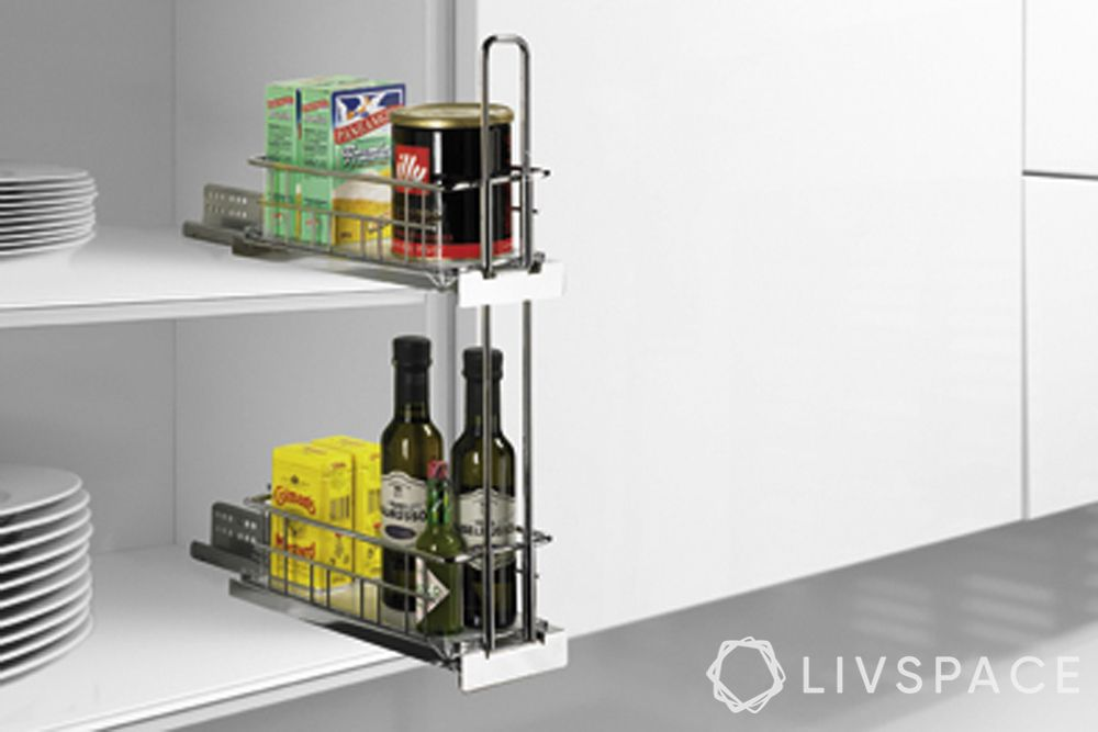 under sink accessories-modular kitchen accessories-wall pull-out