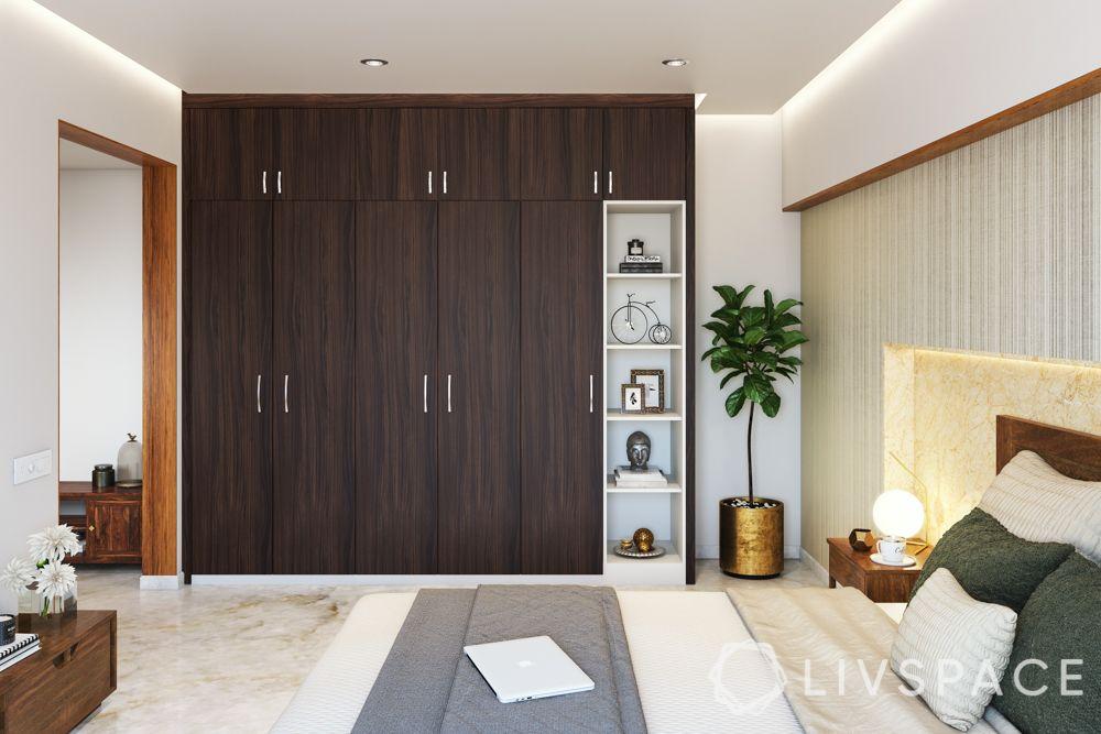 wooden almirah design-wood cupboard-storage space