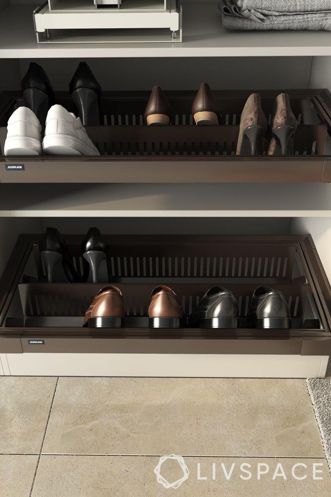 wardrobe styles-wardrobe sections-shoe rack