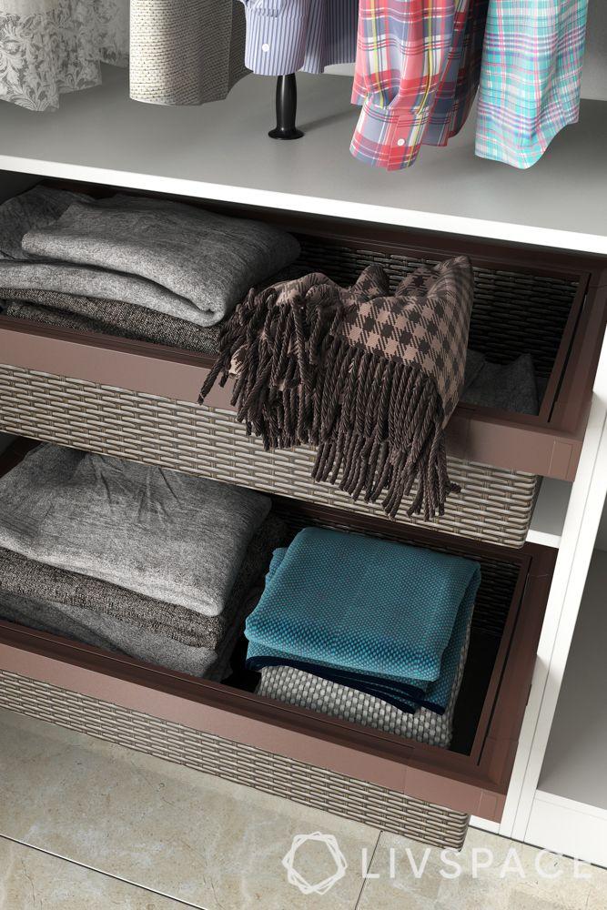 wardrobe design styles-wicker baskets