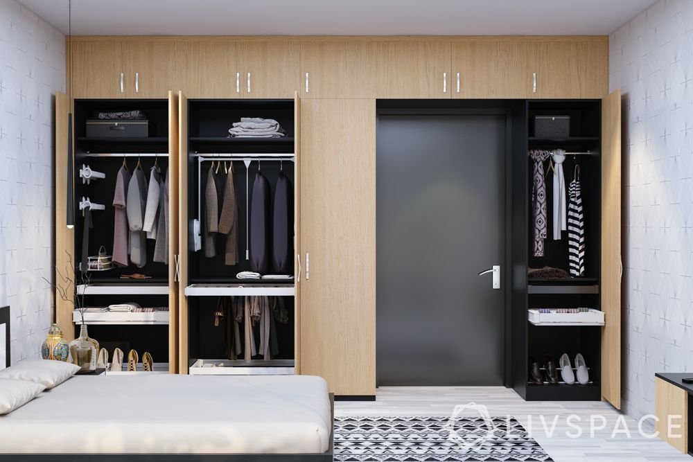 latest bedroom almirah designs-hinged almirah