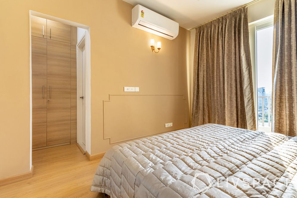 4BHK house design-wall trims-laminate wardrobe