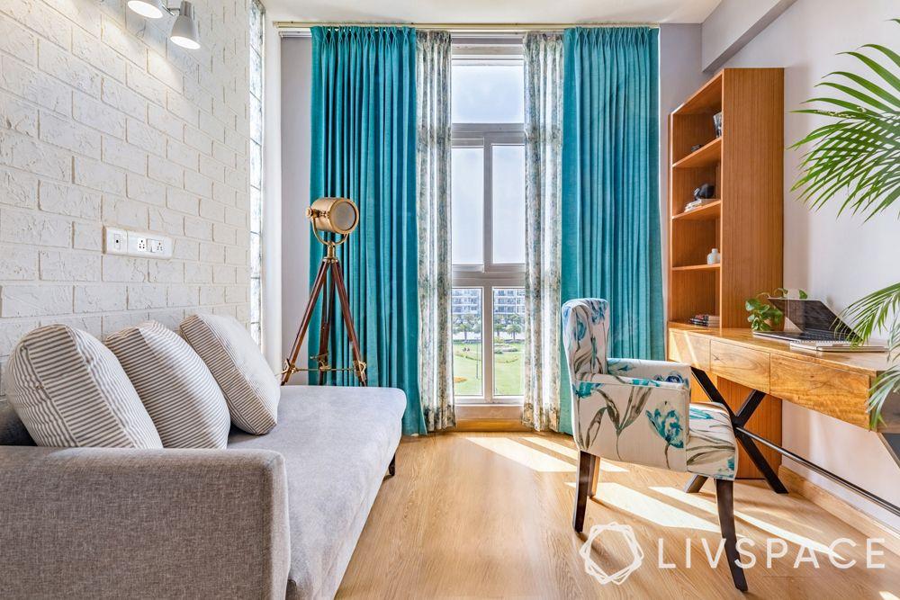 4BHK interior design-study room-sofa