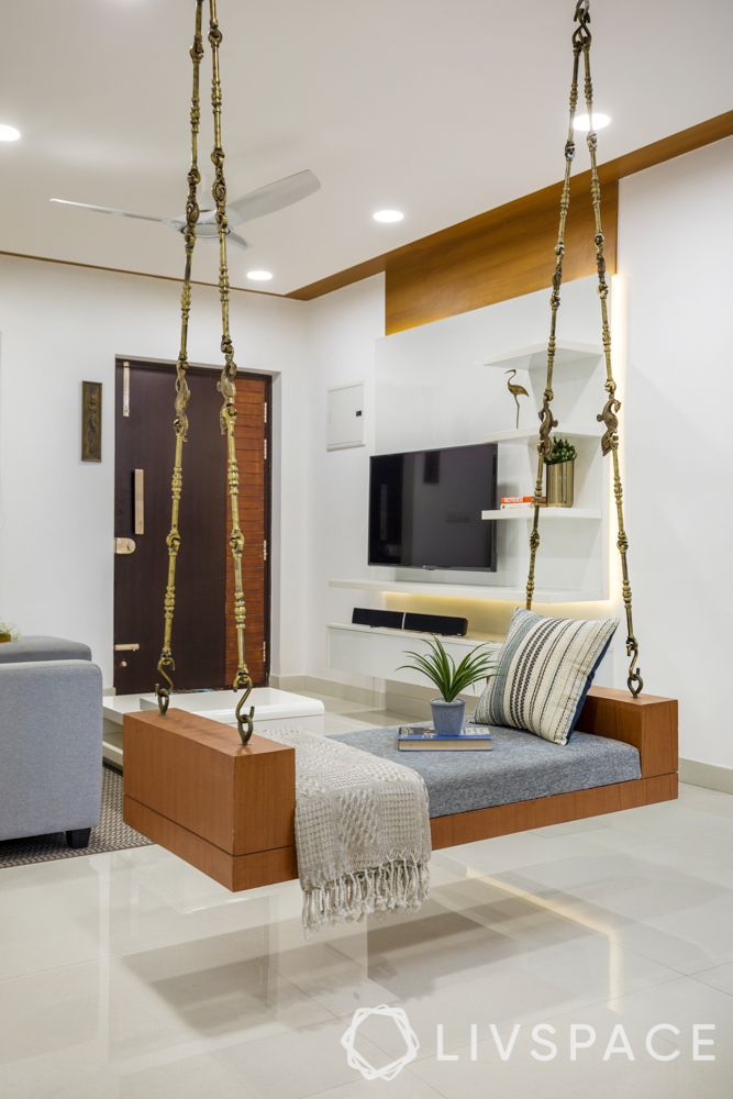 3 bhk home decoration-swing designs