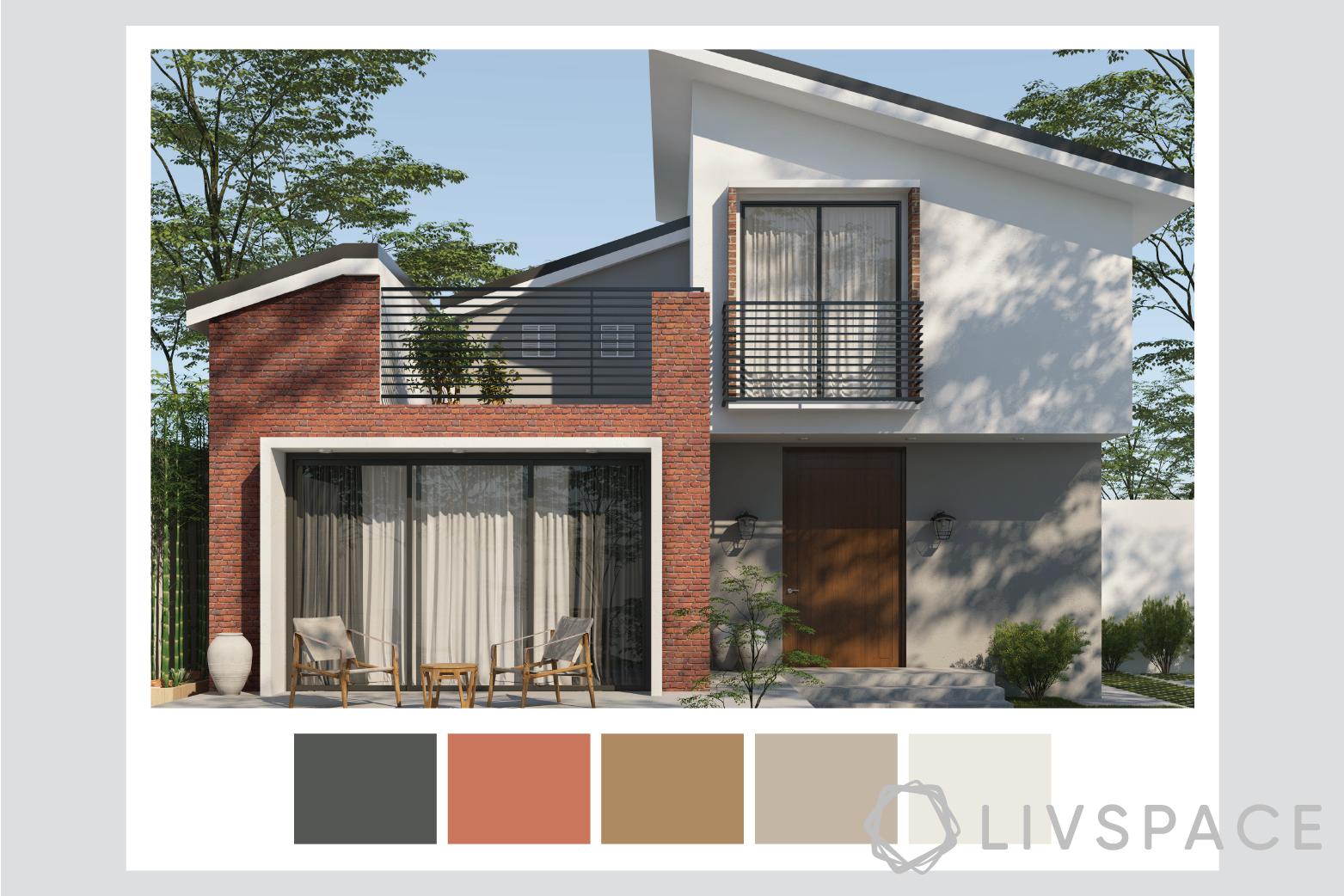 exterior house paint-textured walls-scandinavian style
