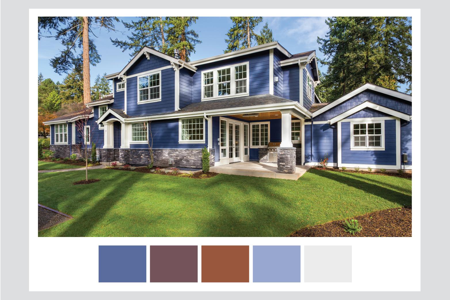 exterior house paint-blue house