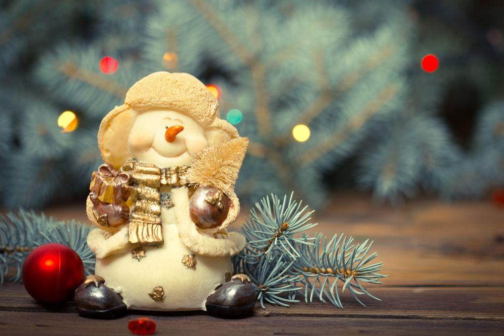 Christmas décor-snowman-bells