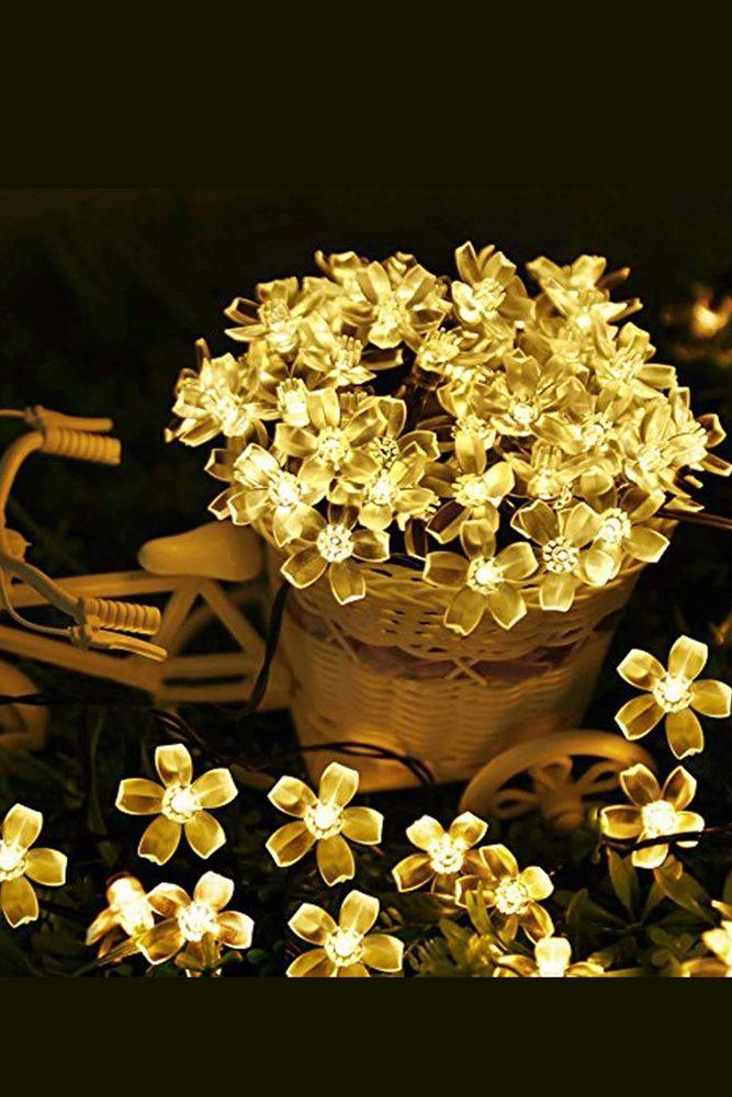 christmas lights-floral string lights