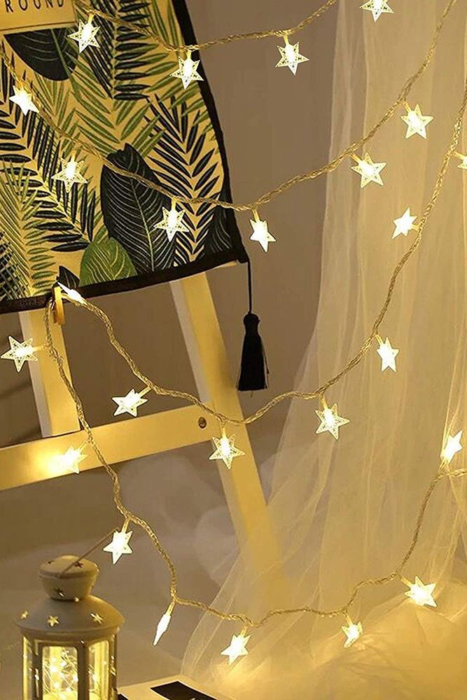 frosted star lights-christmas decoration