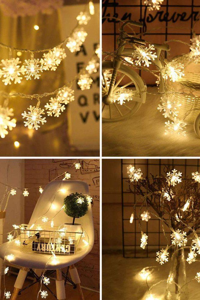 led snowflakes-christmas tree decorations