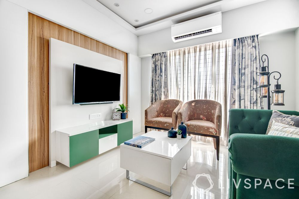 Mumbai home-living room-TV unit