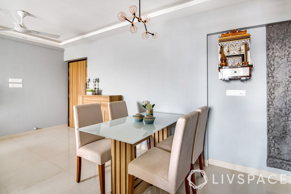 2 bhk flat interiors-dining room