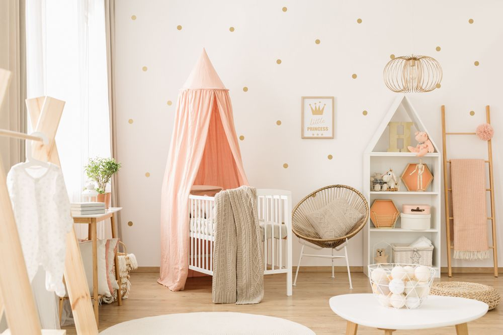 baby room décor-pastel pink baby room