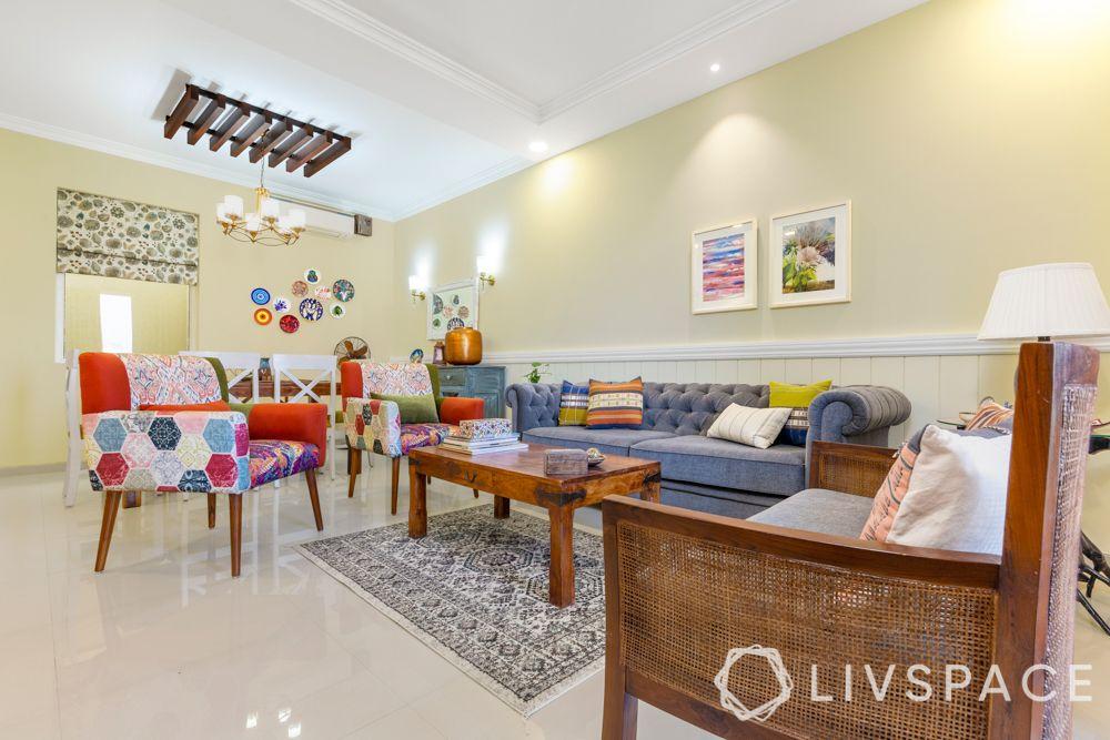 livspace magazine-gurgaon 3bhk-living room