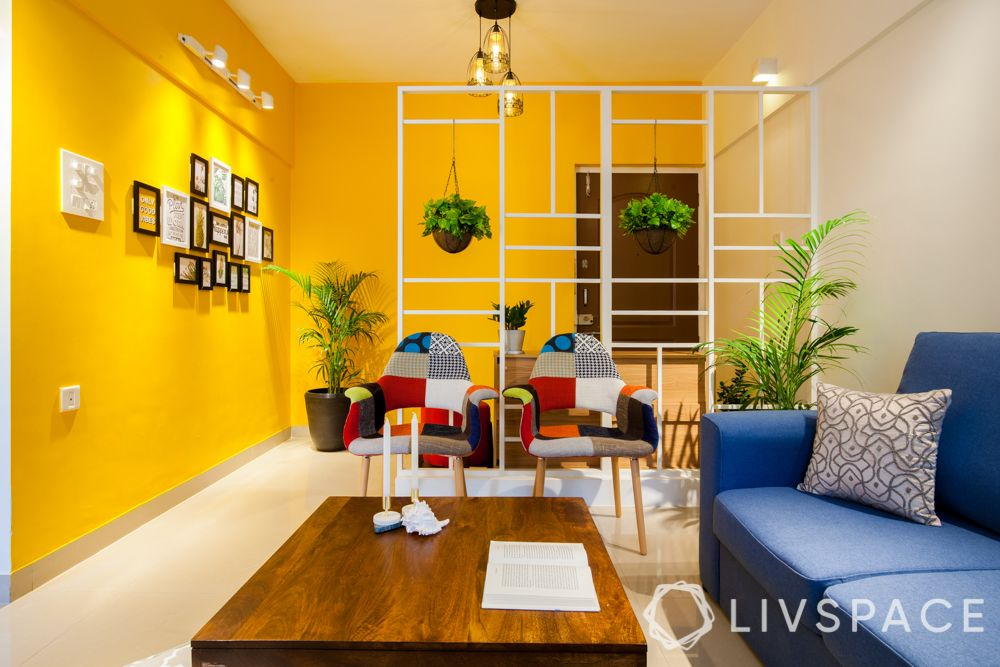 livspace magazine-pune 2bhk-living area