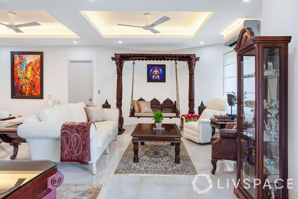 livspace magazine-chennai 4bhk-traditional living room