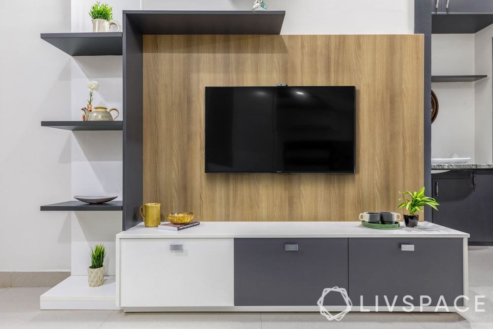 modern TV unit design-floor standing unit