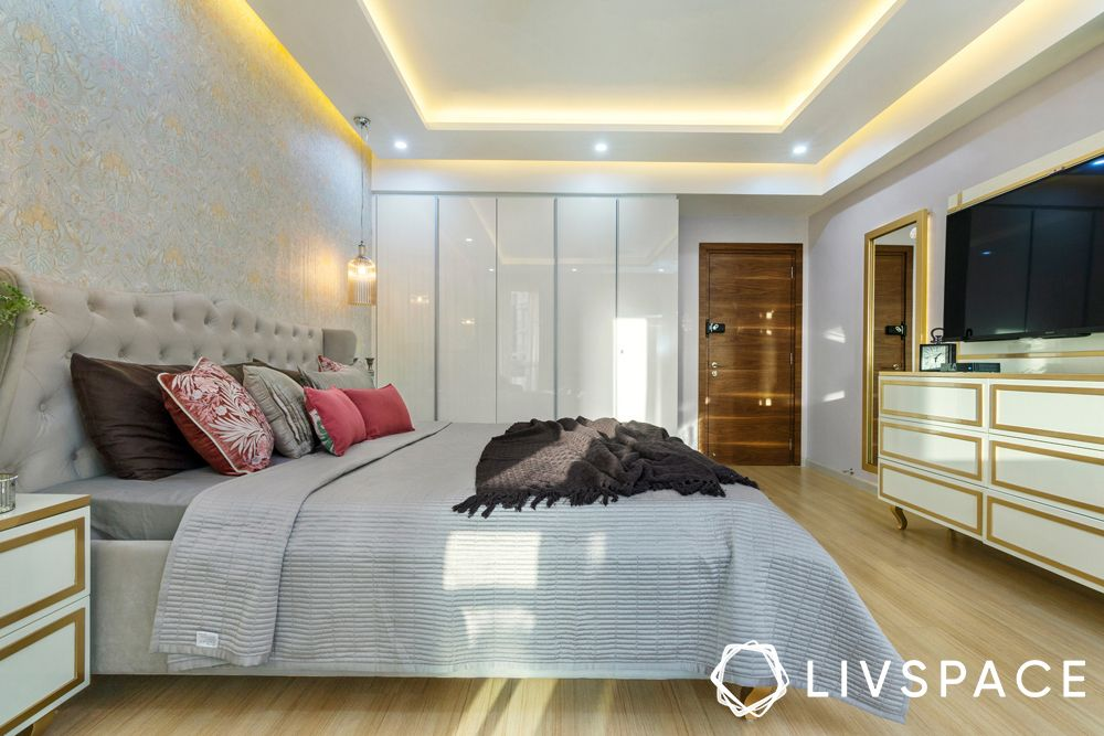 low cost house design-false ceiling-bedroom
