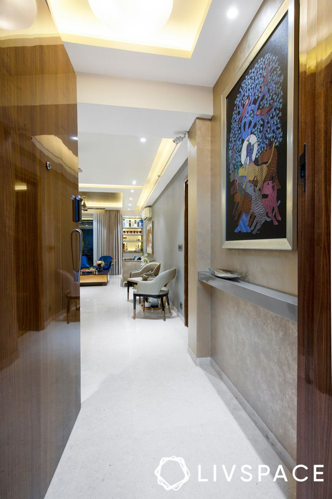 3bhk gurgaon flat-foyer-art