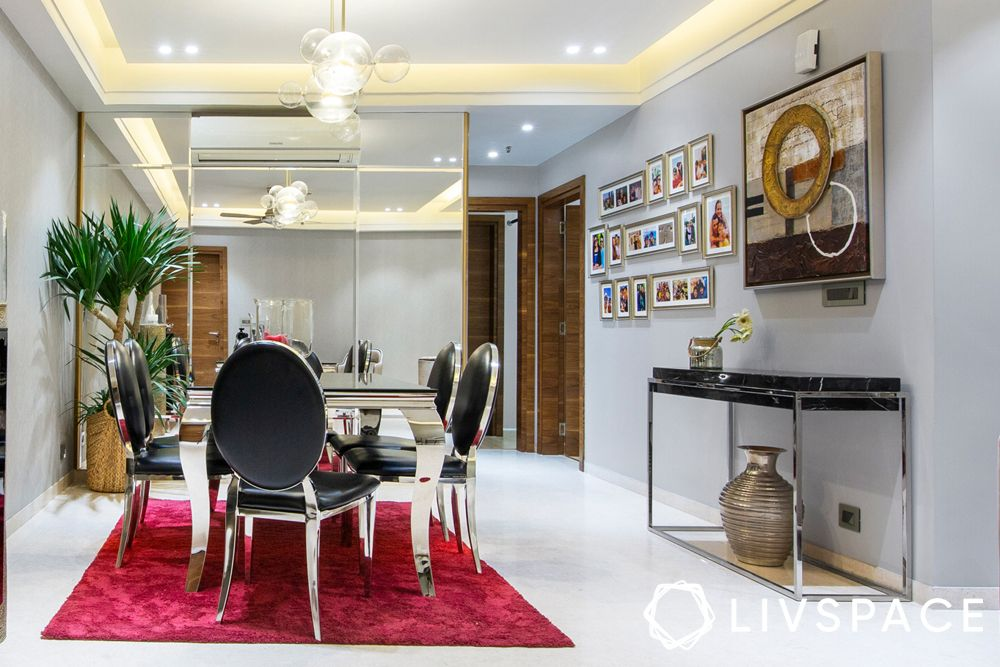 low cost house design-wall art-dining room