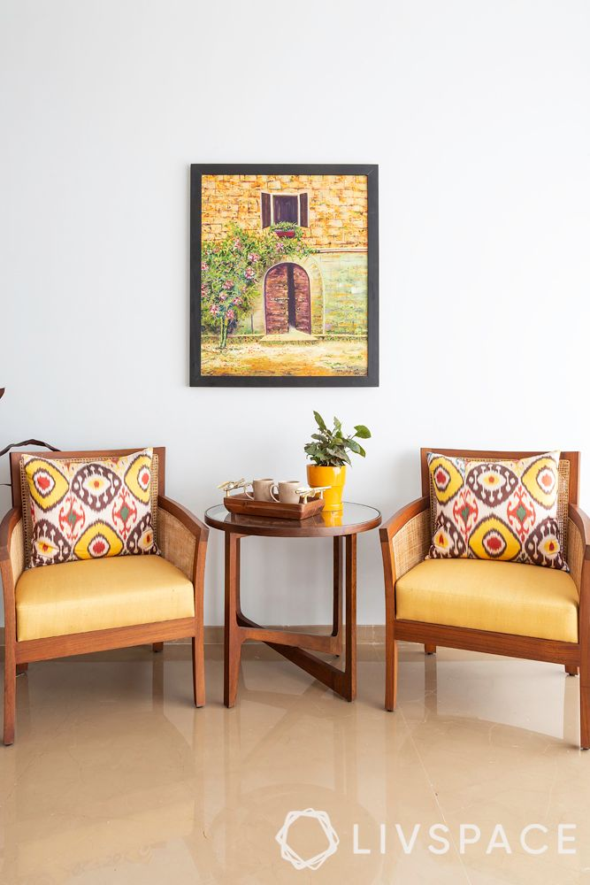 4bhk flat-chair designs-yellow chairs