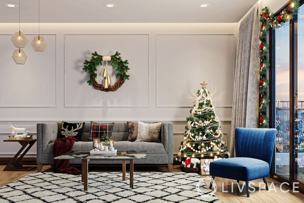 christmas decoration ideas-living room-contemporary