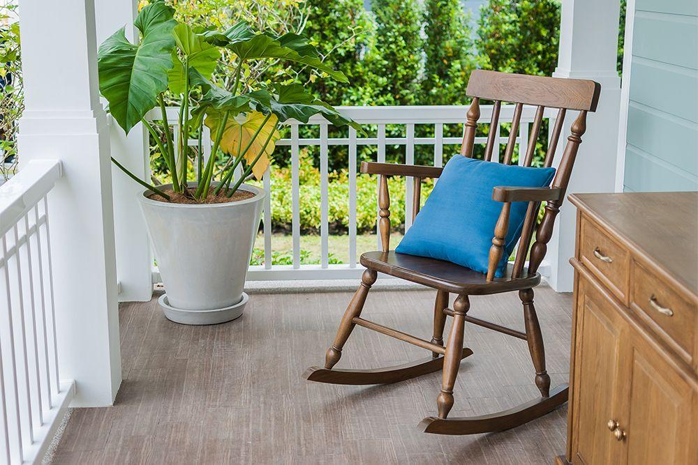 balcony chairs-rocking chair