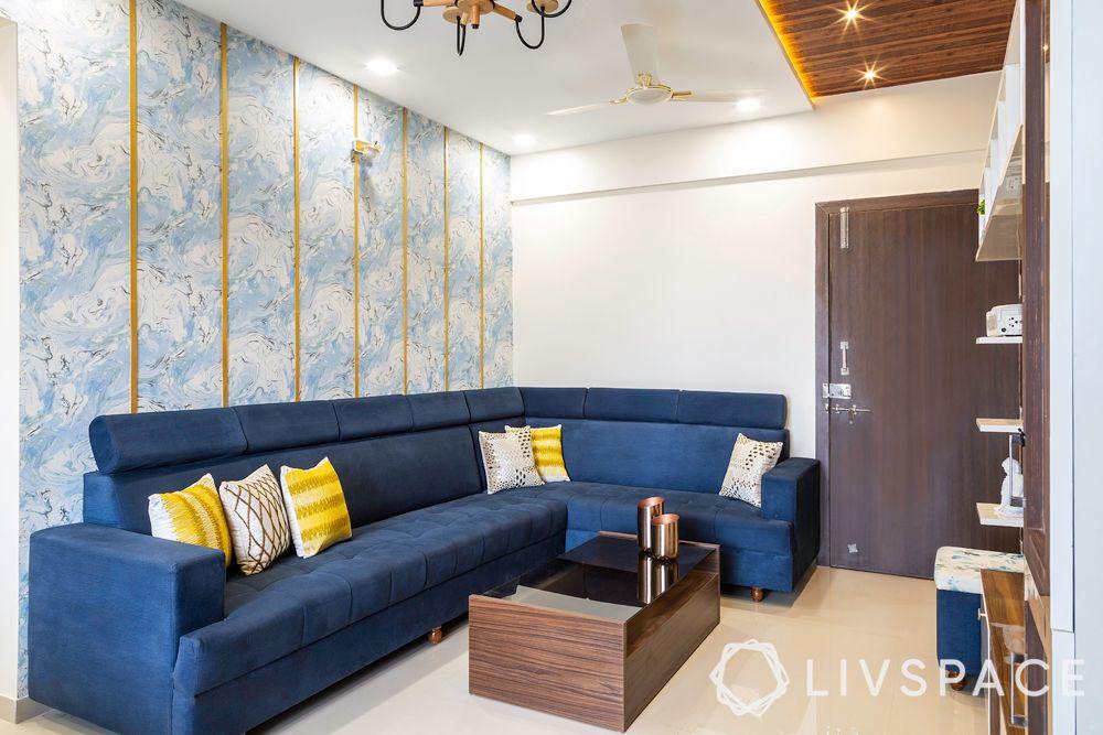 new year colours-Vastu colours-blue sofa