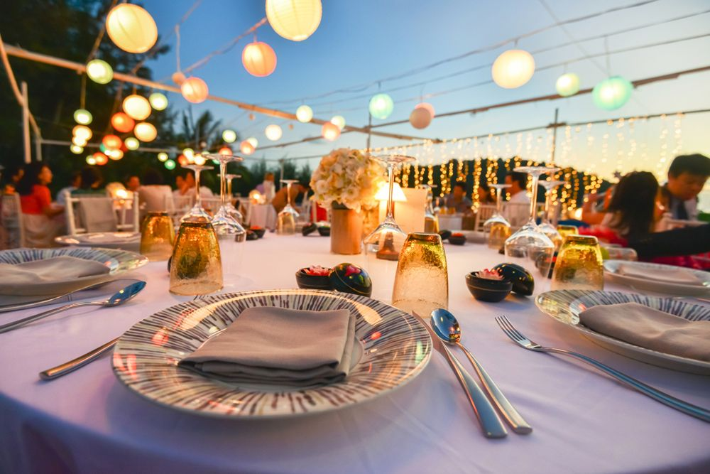 new year decor-terrace party-disposable cutlery