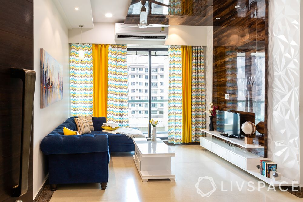 2 bhk interior designs-living room