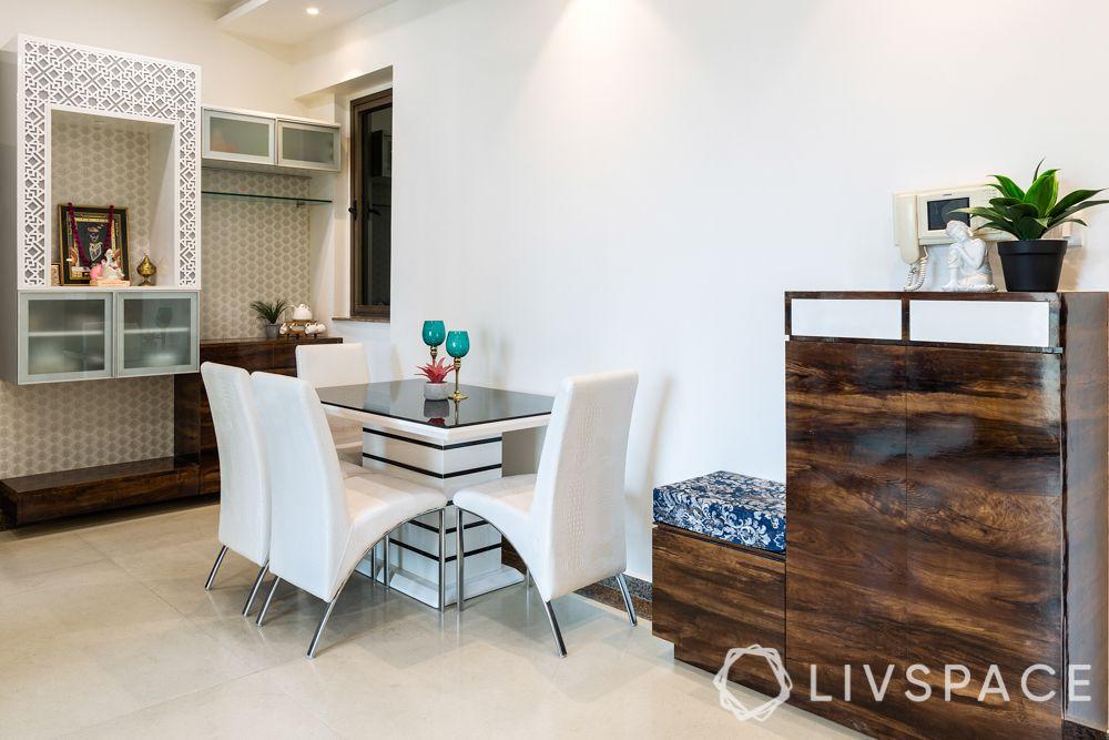 mumbai 2 bhk-dining room-shoe rack