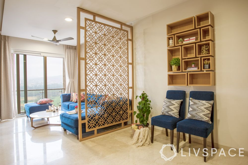 laser cut panels-living room partition