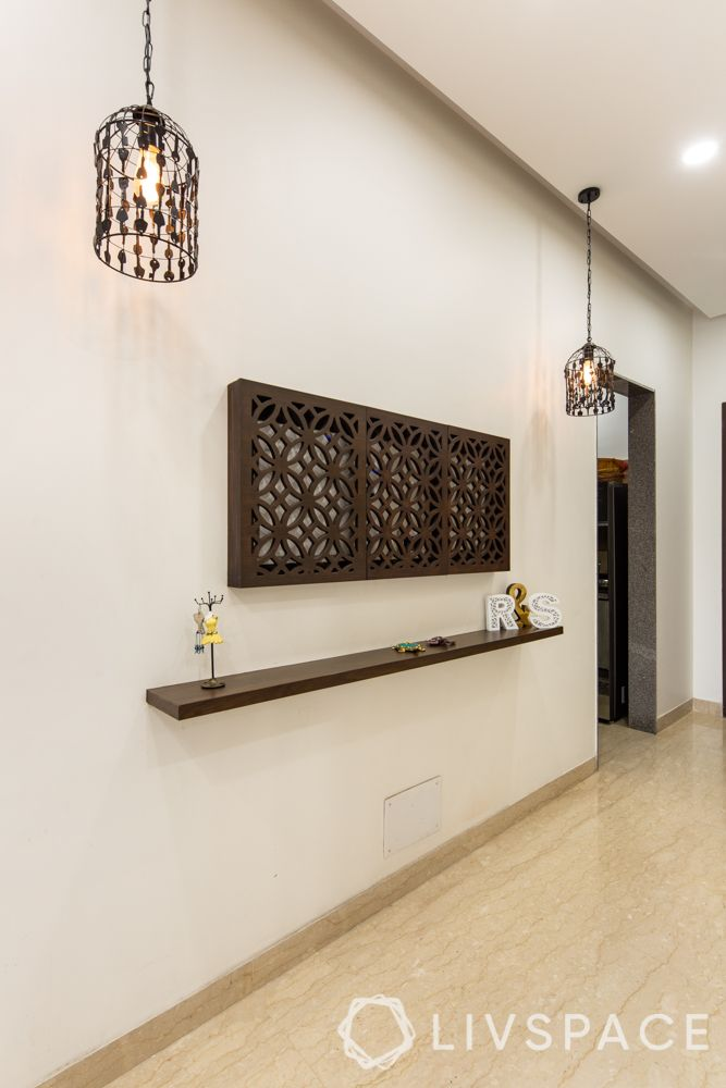 laser cut wooden panels-jaali wall décor