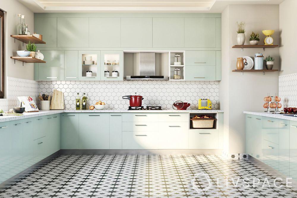 kitchen colour combinations-pastel kitchen