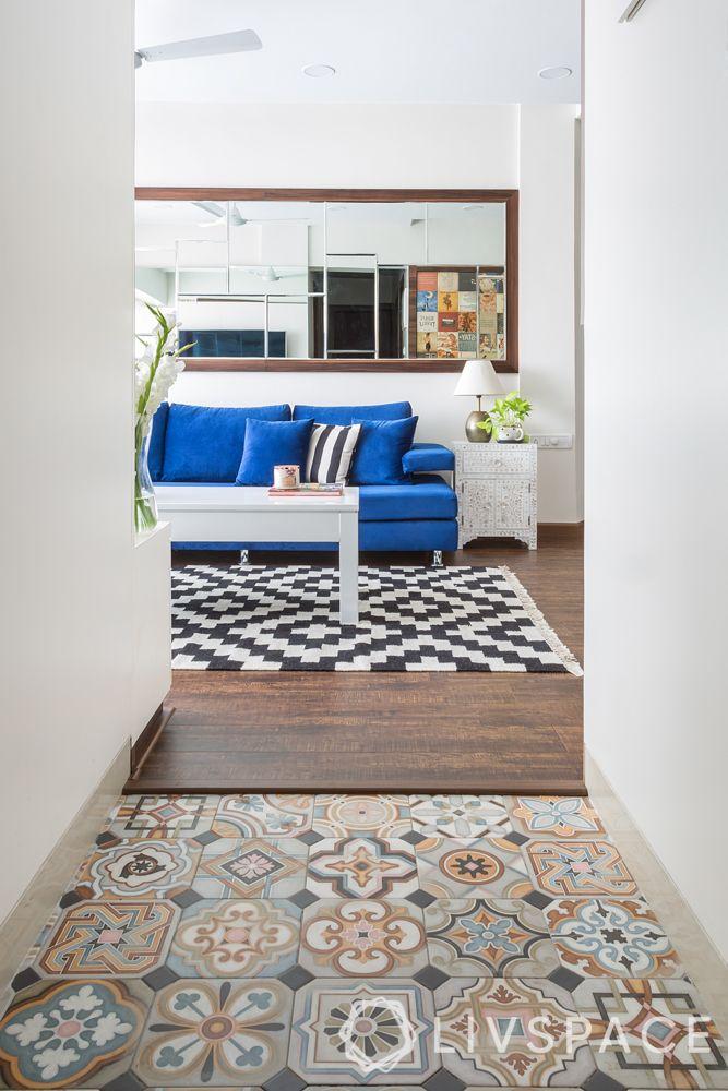 moroccan tiles design-passage floor