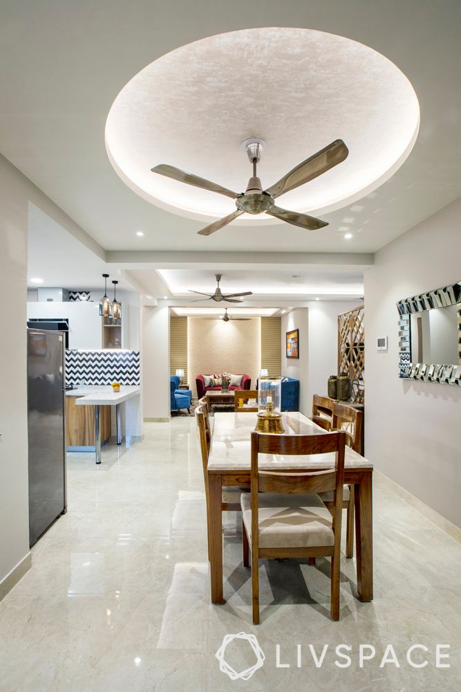 living rooms-gypsum false ceiling-round ceiling