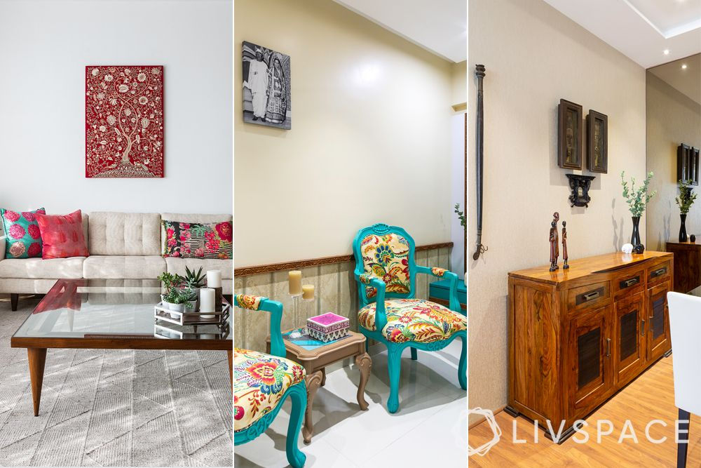 grandmillenial style-coloured furniture-vintage decor