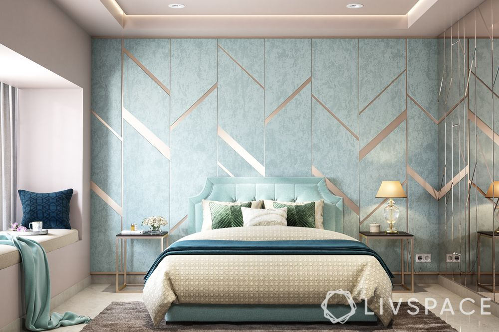 bed design-curved headboard
