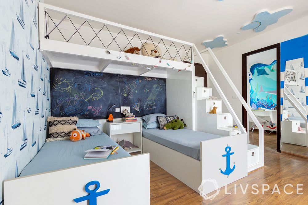 bed design-bunk beds-naval themed