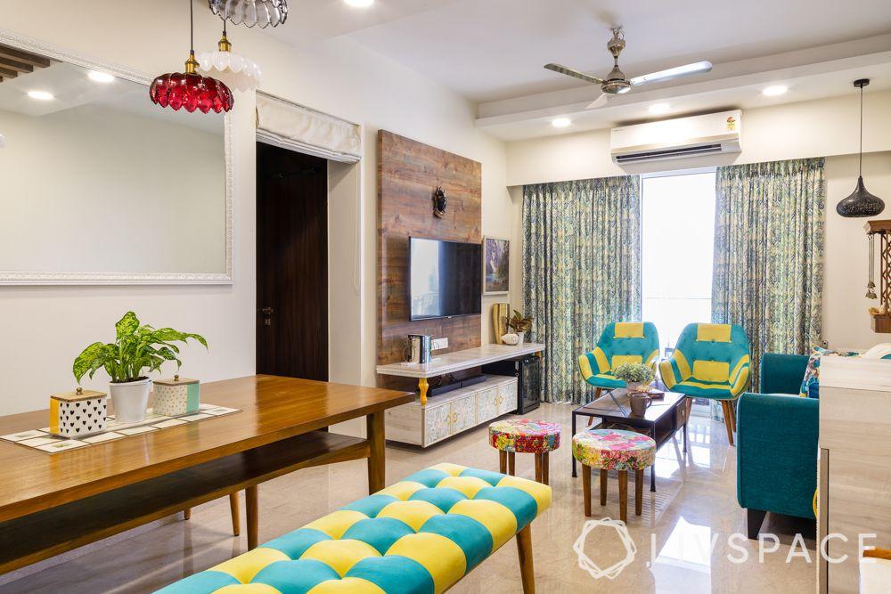 home design interior-living room-ottomans